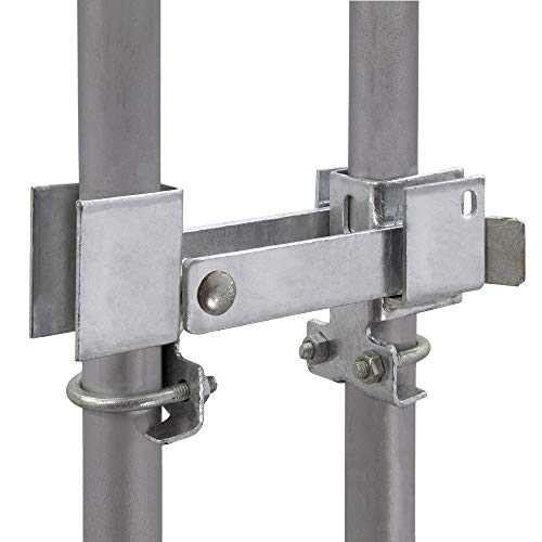 Residential Double Strong Arm Latch Chain Link Fence Gate for (1-3/8' Gate Frames) Double Gate Latch for Residential Chain Link Fence Double Gates (Work Without a Gate Drop Rod in Most Cases)