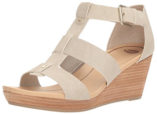 Dr. Scholl's Shoes Women's Barton Wedge Sandal, Grey Snake Print, 8 M US