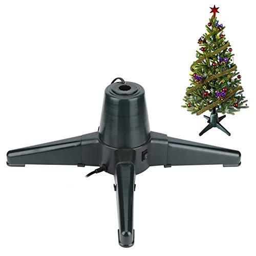 banapo Soporte para árbol de Navidad, Soporte Giratorio eléctrico para árbol de Navidad, 360 Grados para tuberías de Hierro, Decoraciones para estantes, árboles de Navidad(50CM, Pink)