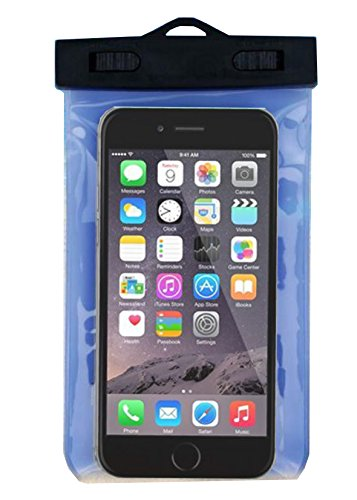 Waterproof Case, X-CASE Waterproof Case Dry Bag with Armband for Apple iPhone 6s, 6 Plus, Samsung Galaxy S6 Edge. Best Water Proof, Dust Dirt Proof, Snowproof Pouch for Cell Phone up to 6 inche