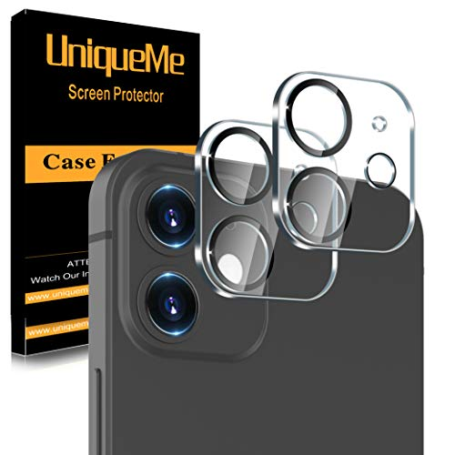 UniqueMe [2 Pezzi] Pellicola Fotocamera compatibile con iPhone 12 mini (5.4 Pollici) / iPhone 11 Protezione Lente Pellicola Posteriore, Vetro Temperato 9H [Nuova versione]