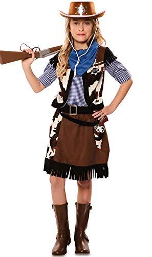 Disfraz de Vaquera con estampado vaca para niña
