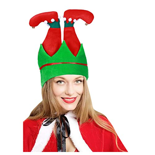 Dasongff Kerstman broek hoed grappige muts nieuw kerstmuts gekke kerstmuts voor Kerstmis accessoire party accessoire party hoed 1 PC rood
