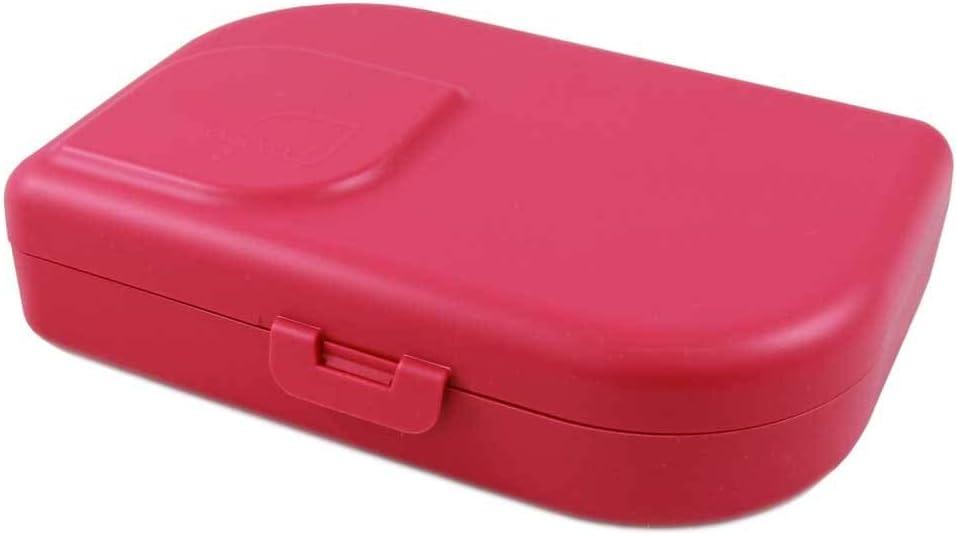 ajaa! fiambrera ecológica - fiambrera fabricada con materias primas renovables sin melamina, sin plastificantes como el BPA, sin plástico (rosa)