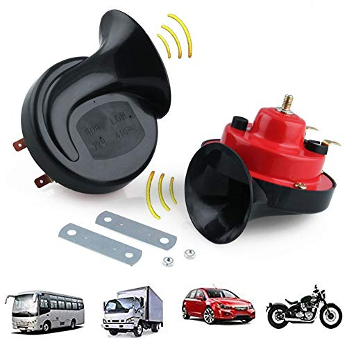 330DB Horn Super Loud Train Horn for Truck Train Boat car Air Electric Snail Double Horn 100W 12V Waterproof Horn for Trucks Cars Motorcycle Bikes & Boats (Black)