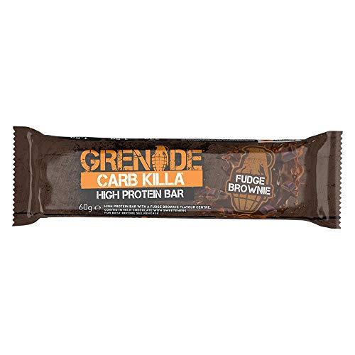 Grenade Carb Killa Alta Proteína 12 Barras, Fudge Brownie 720 g