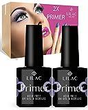 Lilac - 2 Primer Acid Free per Unghie - Asciuga Nell'Aria Non Serve Lampada Per Gel Costruttori, Gel Color, Semipermanente, Acrygel, Acrilico, Smalti One Step - Made in U.S.A.