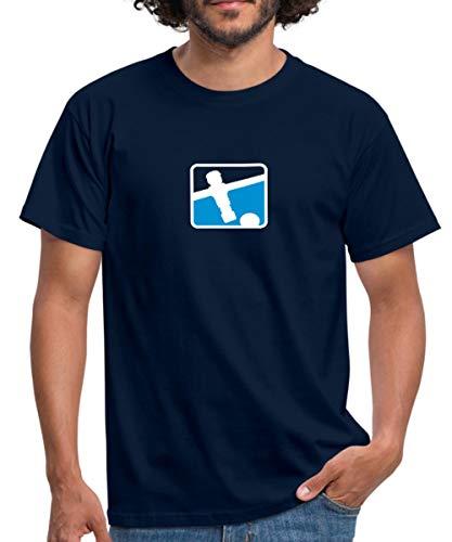 Kicker Soccer Player Tischkicker Männer T-Shirt, XXL, Navy