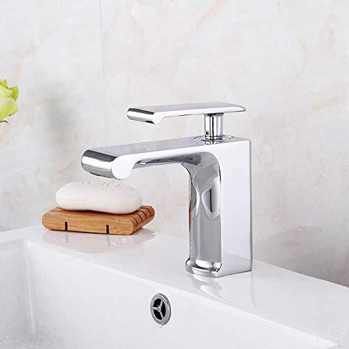 LKK-KK Lavabo de la Cascada del Fregadero Grifo de baño de una Sola Palanca manija cromada Grifo de latón sin Plomo, Silverfaucet, de Plata, una Hermosa práctica