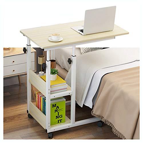 Mesa auxiliar para sofá o cama con 2 estantes de almacenamiento c