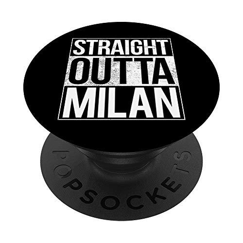 Camisa Milan Italia Straight Outta Milan PopSockets PopGrip: Agarre intercambiable para Teléfonos y Tabletas