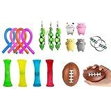 Stecto Sensory Fidget Toys Set de 18 piezas – Alivio del estrés para niños y adultos, reduce el estrés y la ansiedad, juguetes para ansiedad, autismo y ADHD, recuerdos de fiesta de cumpleaños