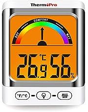 ThermoPro TP52 Higrómetro Termómetro Digital Medidor de Temperatura y Humedad Ambiente Interior Termohigrómetro con Retroiluminación para habitación Hogar