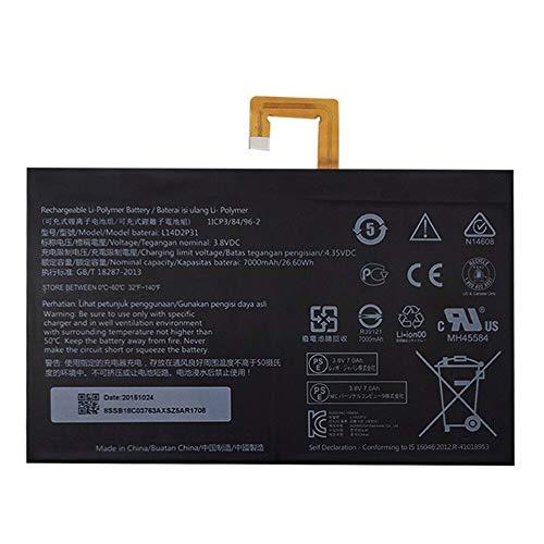 szhyon 3.8V 7000mAh 26.6Wh Original L14D2P31 Batería para laptop compatible con Lenovo Tab 2 A7600-F A10-70F Tab2 A10-70 A10-70L Tablet