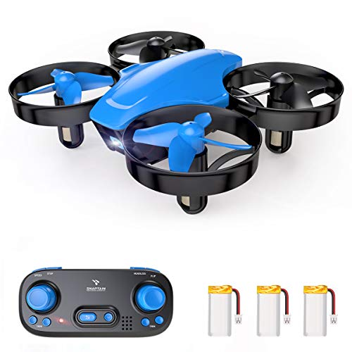 SNAPTAIN SP350 Mini Drone for Kids/Beginners, Portable Throw'n Go RC Quadcopter with 3 Batteries, Circle Flying, 3D Flip, Speed Adjustment