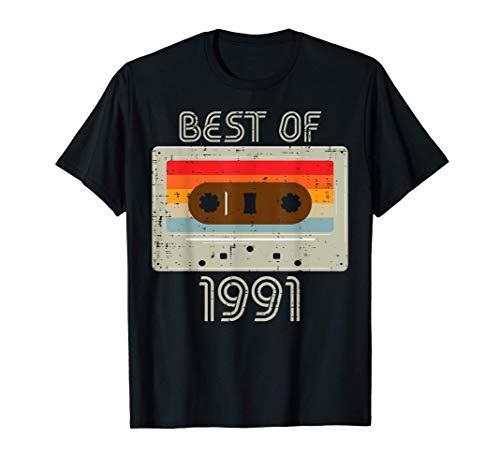 Best Of 1991 Cassete Retro Cumpleaños Hombre 30 años Regalo Camiseta