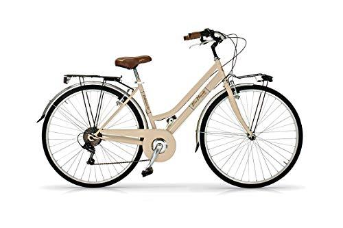 Bicicleta de 28 pulgadas para mujer Alure Via Veneto Shimano, 6 V, beige, capuchino