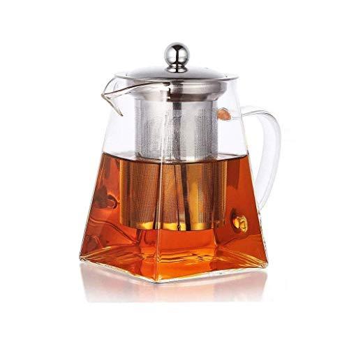 WYZQ Tea Pots,Glass Teapot/Steaming Tea Pots,Filter Tea Maker/Coffee Moka Pot/Electric Stove Small Electric Stove Heat-Resistant Tea Pots,Stainless Steel Thickened Glass Teapot Home Kitchen