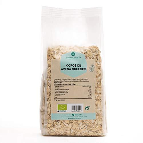 Planeta Huerto | Copos de Avena Integral Ecológicos Gruesos, 500 gr | Cereales Ricos en Omega 3, Fibra, Proteínas y Vitamina B1 | Alimentos Orgánicos, Biológicos Para Desayunos y Cocina Saludable