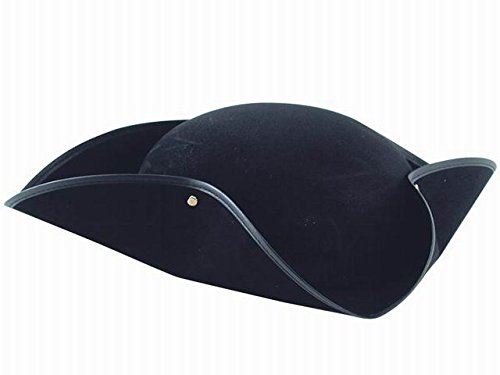 Carnival 5580 Chapeau Tricorne en bifloc, Noir