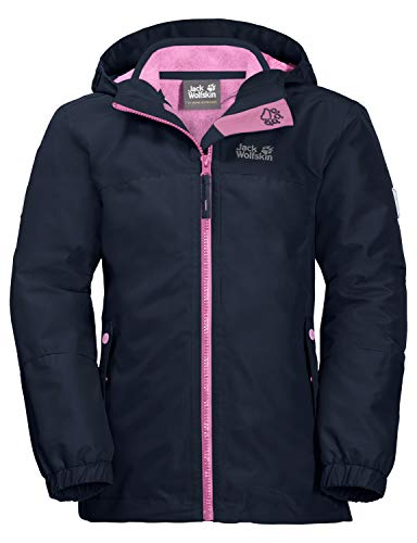 Jack Wolfskin Kinder G Iceland 3IN1 JKT 3in1-jacke, Midnight Blue, 128