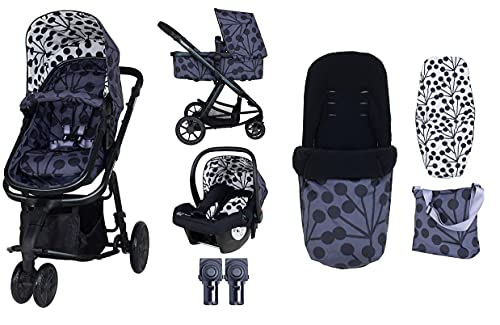 Cosatto Giggle 2 pram and Pushchair in Lunaria with Car seat Bag Footmuff and Raincover