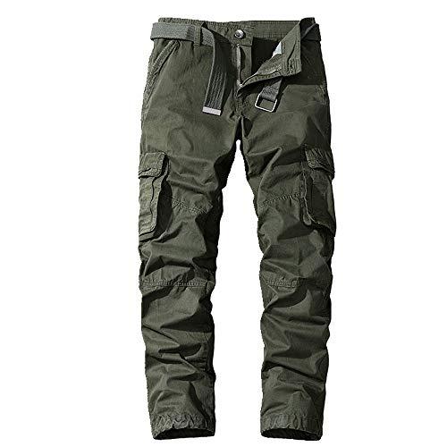 N\P Pantalones deportivos de los hombres de verano y otoño pantalones ajustados para hombre - verde - 54