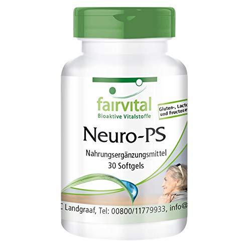 Fosfatidilserina 100mg - Neuro-PS - Dosis elevada - 30 Cápsulas blandas - Calidad Alemana