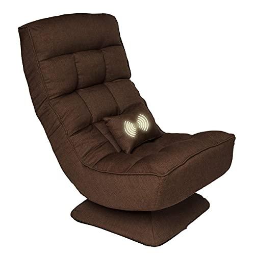 Gtracing Chair Gaming, 360-Grad-Drehstuhl Floor Gaming Chair Lazy Sofa, Klapp-Gaming-Stuhl mit bequemer Rückenlehne und Lendenkissen, Lazy Sofa Recreation Chair mit 4 verstellbaren Positionen fo