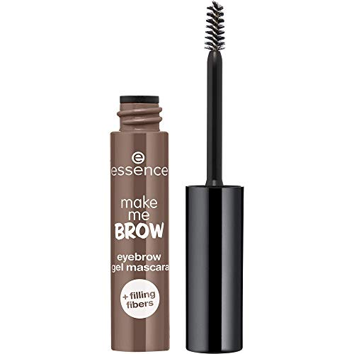 essence make me BROW eyebrow gel mascara, Nr. 05 Chocolaty Brows, braun, definierend, gelig, vegan, Nanopartikel frei, ohne Parfüm, 3er Pack (3 x 3,8ml)