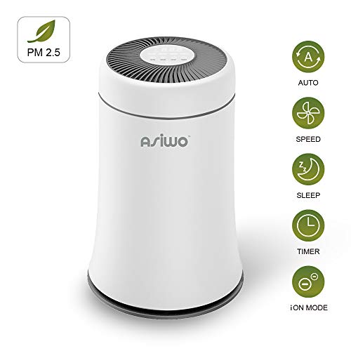 ASIWO Air Purifier for Home Filters Smoke, Dust, Pet Dander, Odors, 3 in 1 True HEPA Desktop Air...