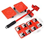 5pcs Furniture Transport Set Roller Set Remowing Lifting Mover Tool Herramienta Mobo Mobo Mobile Toboganes (Color : Red)