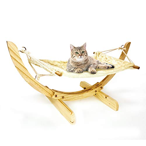 Luxury Cat Hammock, Cat Bed for Indoor, Perfect for Cats Ferrets & Small Dogs,