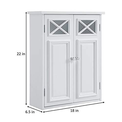 Elegant Home Fashions Dawson Wall Cabinet, White