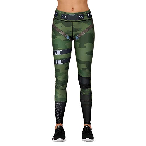 KKIMISPORT Frauen Yoga Hosen Stretch Engen Sporthose Fitness persönlichkeit gedruckt neun-Cent Hosen Camouflage cos bda016 m