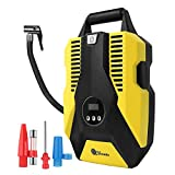 Vozada Portable Air Compressor for Car Tires Air Pump 12V DC Car Tire Inflator 150 PSI with Digital Display and LED Light Air Pump Auto Shut Off for Vehicle, Bicycle, Motorcycle, Balls
