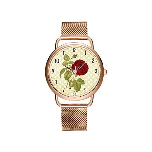 Vrouwen horloges merk dames mesh riem ultradun horloge waterdicht horloge kwartshorloge Kerstmis antiek goud florentine FORINT polshorloge