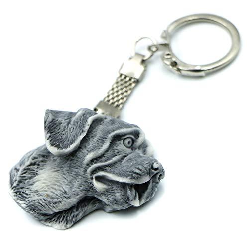 Llavero de perro de San Bernard.Divertido llavero 3D para hombre y mujer hecho de arena de mármol con resina. Bonito accesorio regalo para aniversario