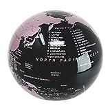 Esotica© .Mappamondo rotante Rosa – con luce a led punto luce – un regalo porta fortuna per chi ama viaggiare ed imparare la geografia
