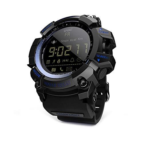 LOKMAT MK16 Smart Watch Militärarmee Robuste Männer Frauen Uhr 5ATM Wasserdicht EL Luminous Sports BT Smartwatch Schrittzähler Aktivität Fitness Tracker Fernkamera Alarm Woche Datum Armbanduhr
