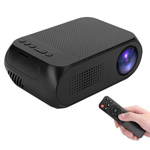 Mini Proyector, Proyector de Video Portátil de Bolsillo Full HD de 1920 X 1080, Proyector para el Hogar Y el Exterior Compatible con AV/USB/Micro Tarjeta de Memoria/HDMI /Altavoz/Auriculares (EU)