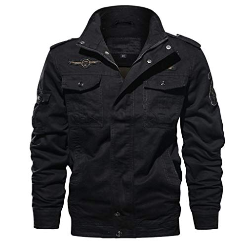 Herren Militär-Jacken Oberbekleidung Langarm Full Zip Outdoor Windbreaker Militär Bomber Jacken Mantel - mehrfarbig - XXX-Large