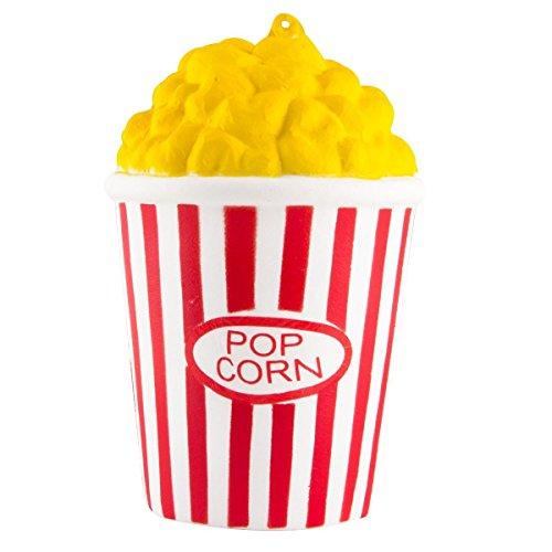 ZhengYue Squishy Kawaii Grandes Baratos Juguete Niños Squeeze Popcorn Copa Squishy Slow Rising Pack Descompresión Juguetes Compresivos (Rojo)