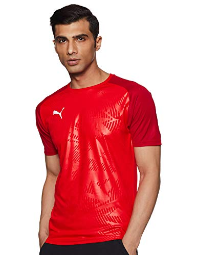 PUMA Cup Training Jersey Core Maillot, Hombre, Red/Chili Pepper, S