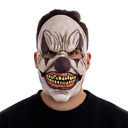Máscara de Payaso de Adulto de Halloween Beige de látex de 18x14x23 cm - LOLAhome