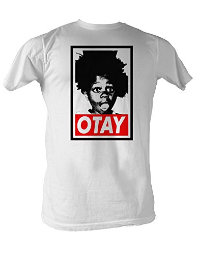 Our Gang Little Rascals 1930's Comedy Buckwheat Otay White Adult T-Shirt Tee