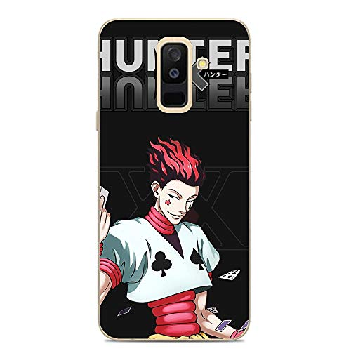 QNNN Transparent Silicone TPU Shockproof Clear Case Compatible with Samsung Galaxy A6 Plus/J8 2018/A9 Star Lite-Hunter-HXH Hisoka-Morow 7