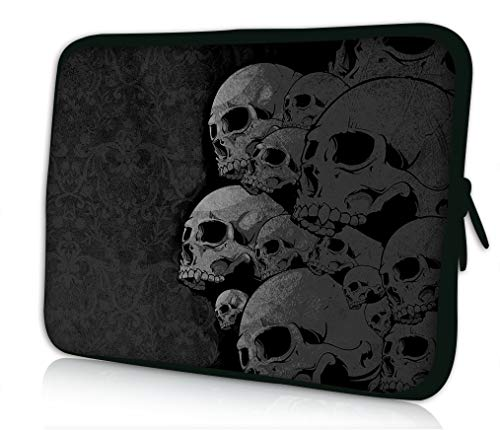 15' 15.6' inch Laptop Sleeve Case Bag Compatible with Apple MacBook air pro Dell Lenovo Samsung Asus Computer Tablet Ipad… (Skull Collection)