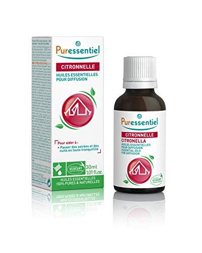 Puressentiel - Anti-pique - Huiles Essentielles pour Diffusion - Diffuse Citronnelle - 100% pures et naturelles - Aide à éloigner les moustiques - 30 ml