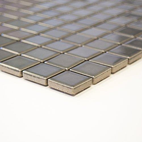 Piastrelle Mosaico Vetro Mosaico Mosaico Piastrelle in ceramica quadrato piano Bad Nuovo 6mm # 369